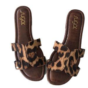 Sugar sandals leopard print size 71/2 like new
